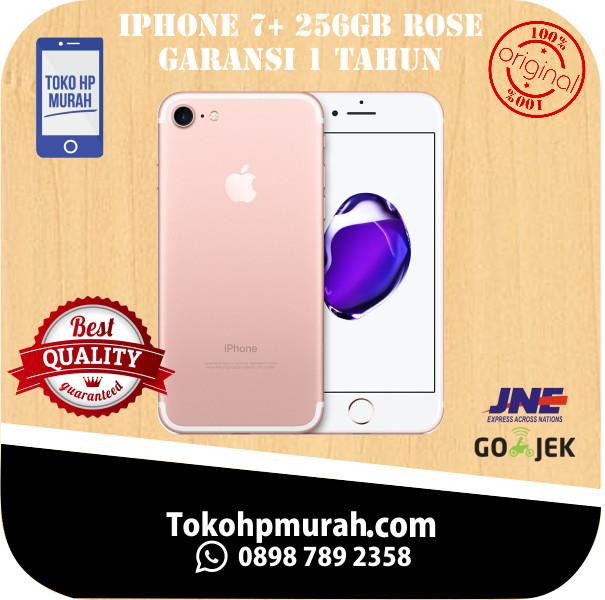 harga [garansi inter]iphone 7+ plus 256gb rosegold dan gold garansi 1 tahun Tokopedia.com