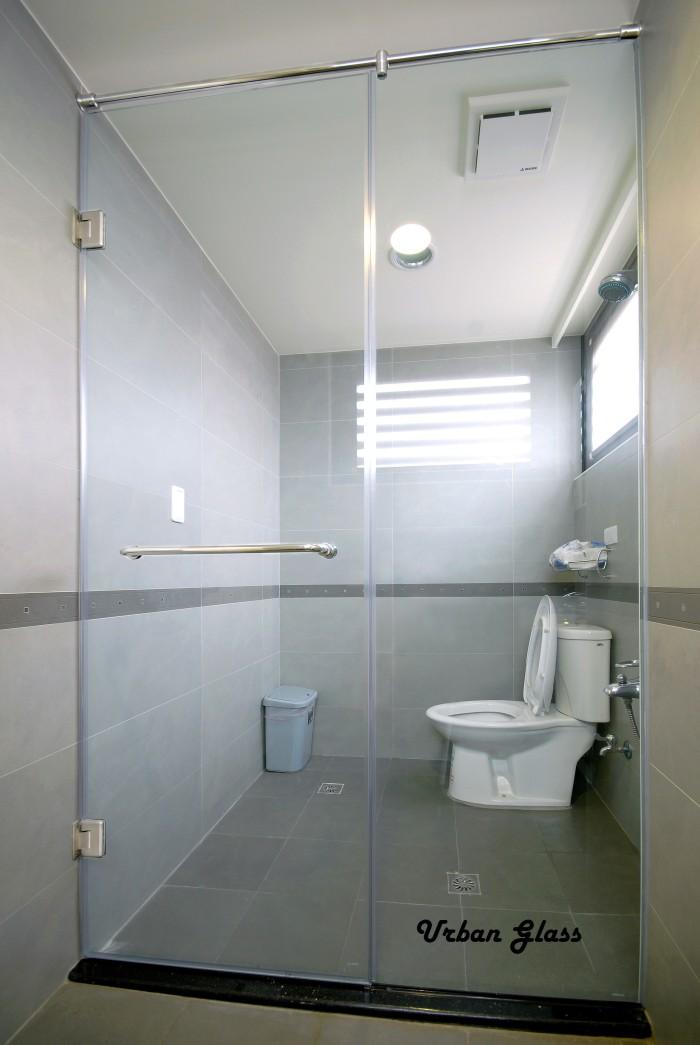 Jual Pintu Kaca Shower Kamar Mandi  Engsel Handle L