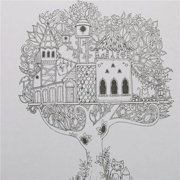 Enchanted Forest Buku Gambar Coloring Book Anti Stress Mewarnai