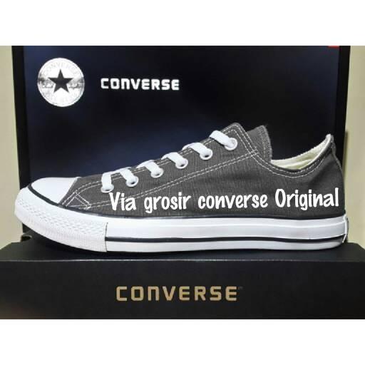 Jual sepatu converse original sneakers all star ox basic Grey ... 9a91124095