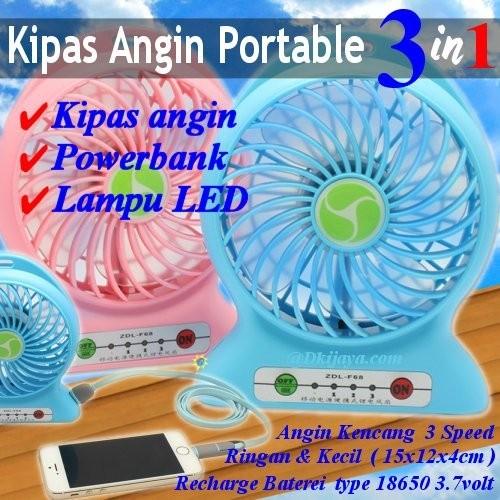 harga [power bank] kipas angin / portable kipas mini 3in1 powerbank Tokopedia.com
