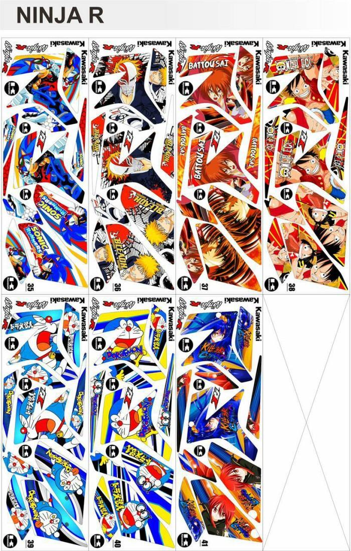 Jual Sticker Striping Ninja R Kartun Rumah Kreatif Bandung Tokopedia