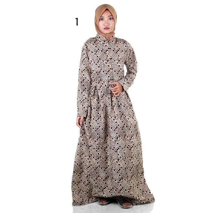 Jual Gamis Muslim Batik I Busana Muslim Wanita Gamis Batik Syar i ... 9cc2cfddd1