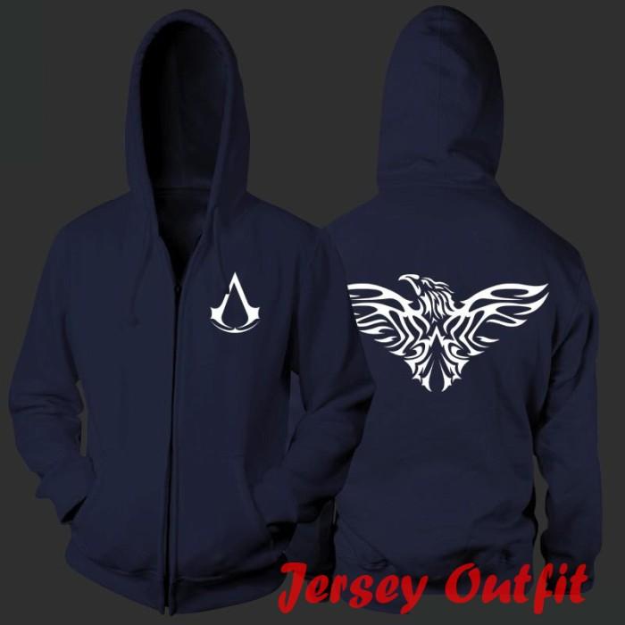 harga Jaket sweater hoodie zipper assassins creed eagle logo Tokopedia.com