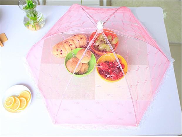 Umbrella food cover / payung tudung saji lipat