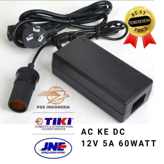 harga Adaptor kompresor mini listrik ac ke dc 12v 5a 60watt Tokopedia.com