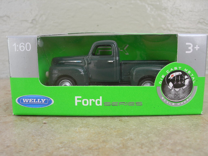 mainan anak welly 1:60 ford f1 pick up hijau (ACR 101)