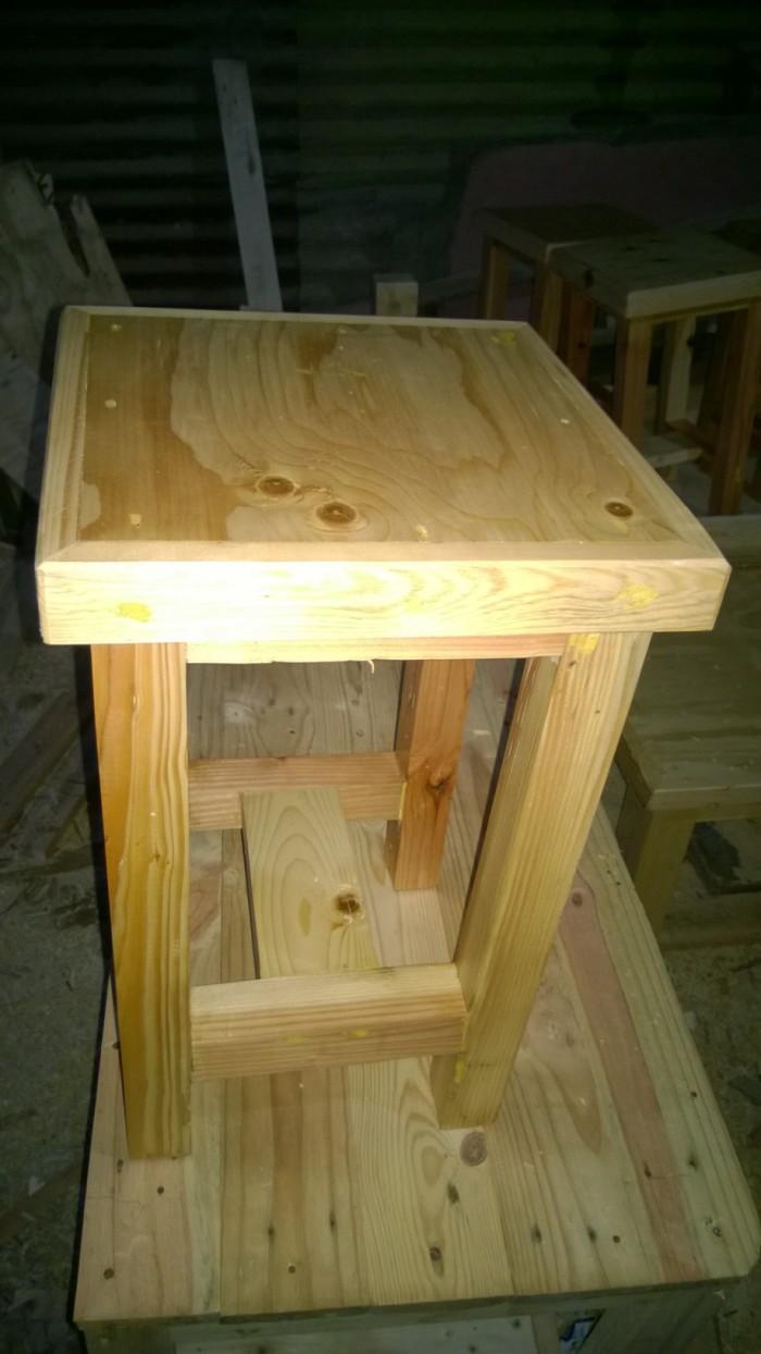 Jual 30x30x50 Kursi Kayu Jati Belanda Pinus Kotak Minimalis Murah