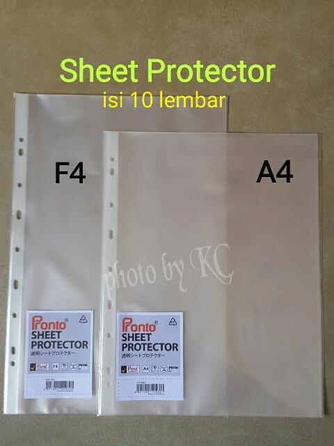 Foto Produk ATK0061 (F4-10lembar) Sheet Protector Pronto Plastik Pelindung File dari Toko_Cemara Jaya