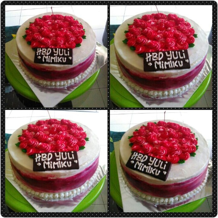 Jual Birthday Cakekue Ulang Tahunkue Tartblackforestsponge Cake 28 Cm Kota Depok Didiadinda Moms Cake Tokopedia