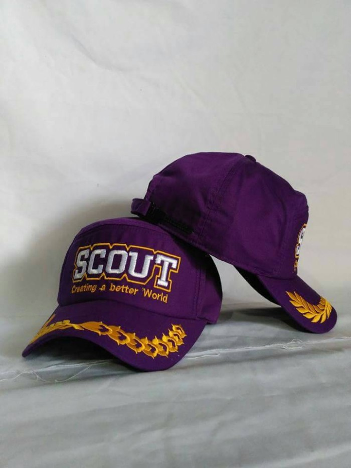 Jual topi scout better(ungu) - house topi pramuka  424c93e7a5