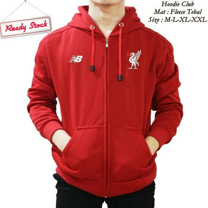 harga Jaket hoodie zipper bola liverpool ( merah cabe ) Tokopedia.com