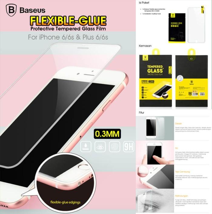 harga Baseus flexible glue tempered glass iphone 6 plus - 6s plus anti gores Tokopedia.com