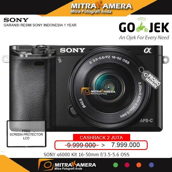 harga Kamera mirrorless sony alpha a6000 kit lensa 16-50mm - promo cashback Tokopedia.com