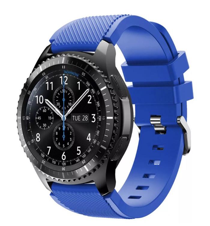harga Samsung gear s3 frontier / classic strap / tali jam biru terang Tokopedia.com