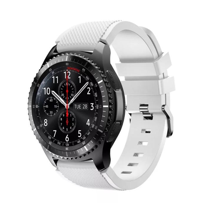 harga Samsung gear s3 frontier / classic strap / band / tali jam putih Tokopedia.com