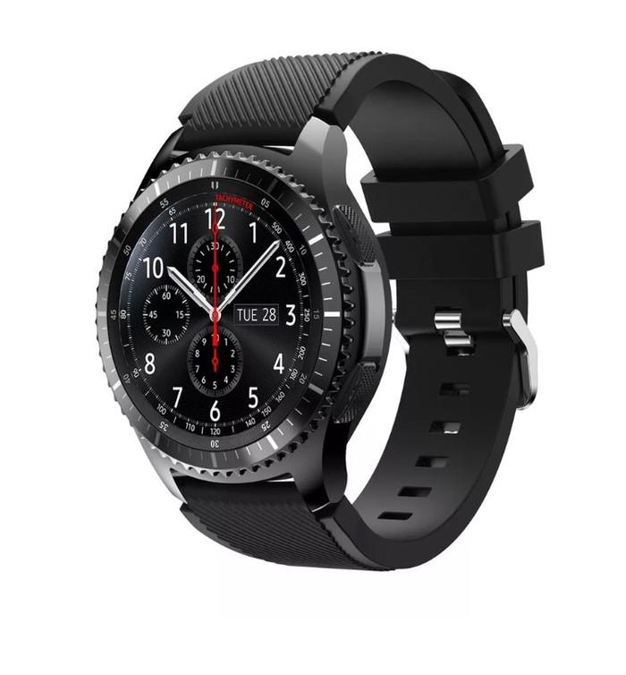 harga Samsung gear s3 frontier / classic strap / band / tali jam hitam Tokopedia.com