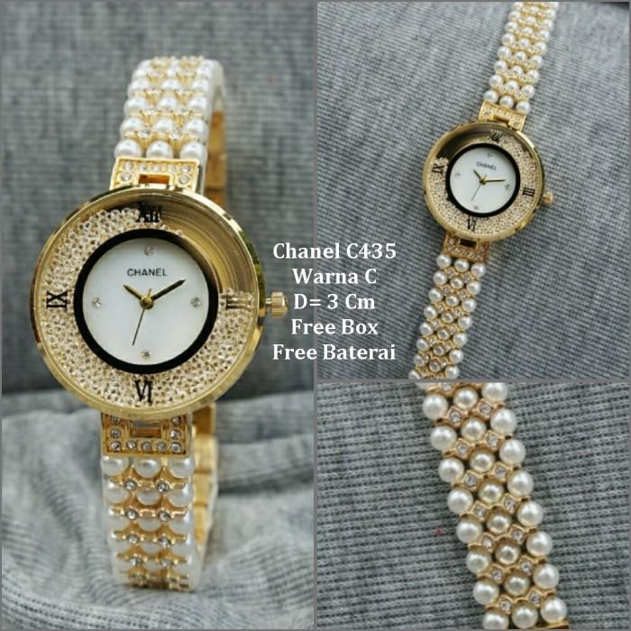 harga Jam tangan wanita / jam tangan murah chanel pearl gold color +box Tokopedia.com