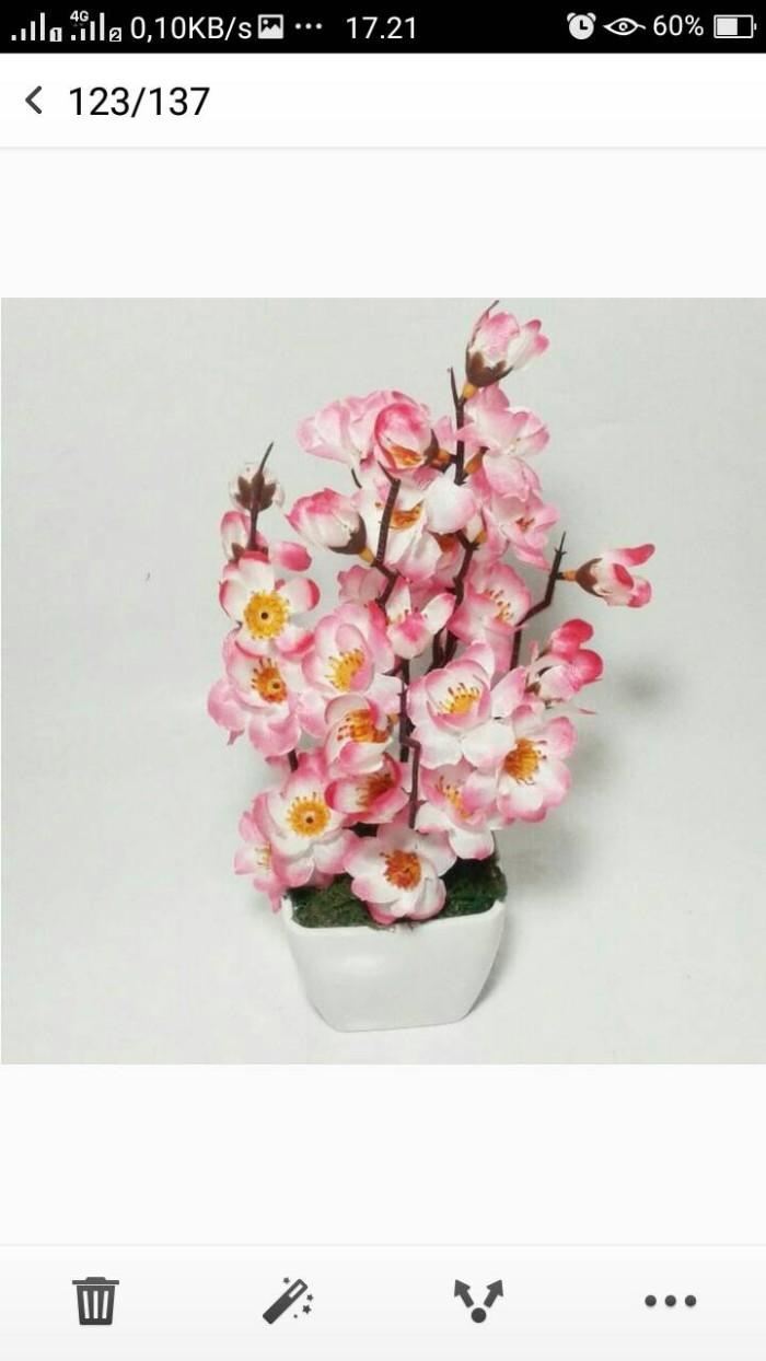 harga Bunga sakura artificial dan vas shaby chic Tokopedia.com