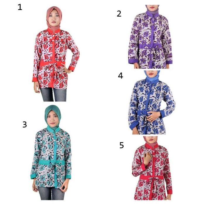 harga Blus batik i blouse batik i blus kerja wanita batik cap diffa Tokopedia.com