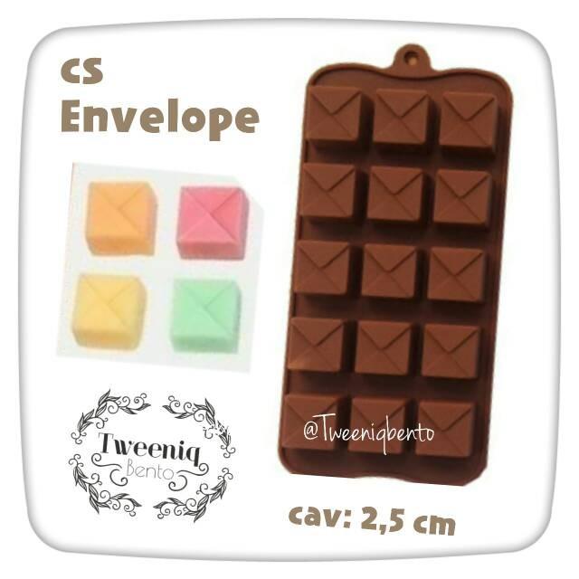 Cetakan silikon envelope amplop cokelat jelly puding es batu unik lucu