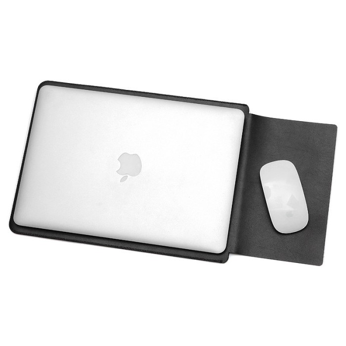 Foto Produk Leather Sleeve Case for Macbook Pro 2016 & Macbook Air 13 Inch - Black dari ellen olshop