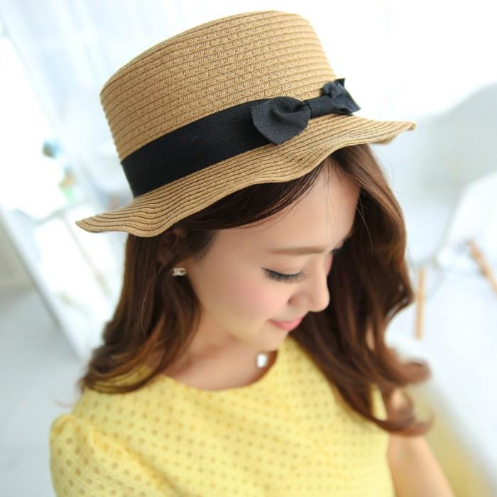 Jual topi lebar   topi pantai   topi wanita   topi gaya   topi pita ... 1dff2e1d02