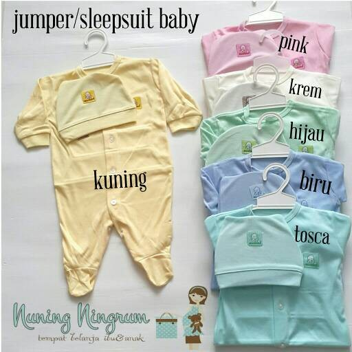 Jual Jumper Jumpsuit Sleepsuit Baju Bayi Merah Set Topi Newborn ... 33a4d7cac7
