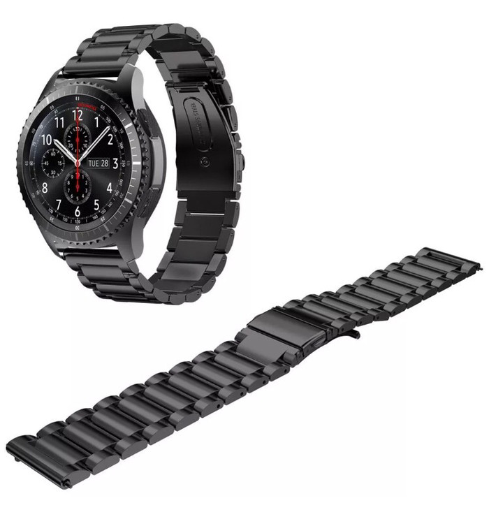 harga Samsung gear s3 frontier / classic black stainless steel strap Tokopedia.com