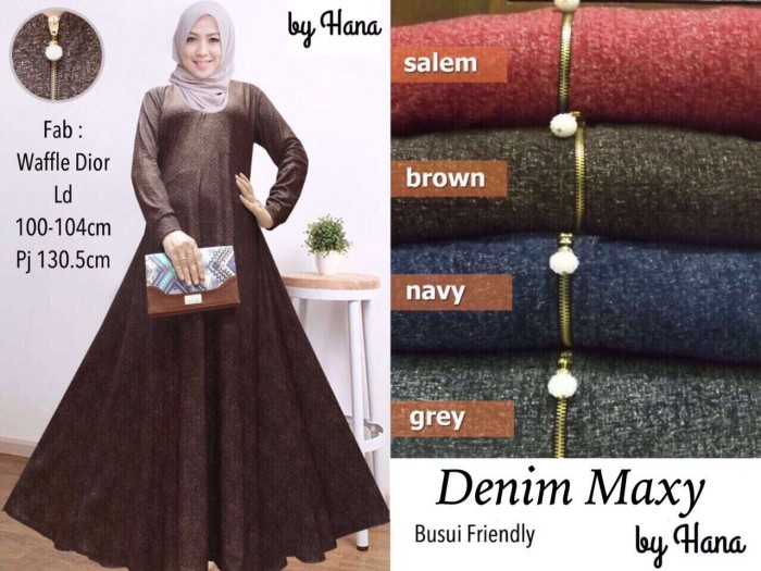 Katalog Gamis Denim Travelbon.com