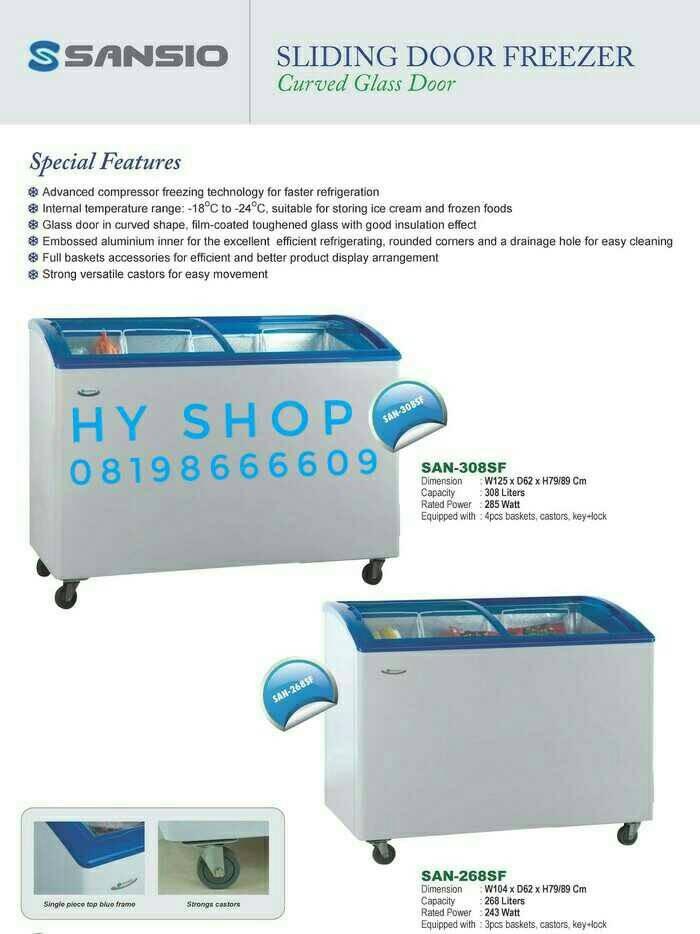harga Freezer sansio sliding 303 sf/freezer sansio rsa gea uchida Tokopedia.com