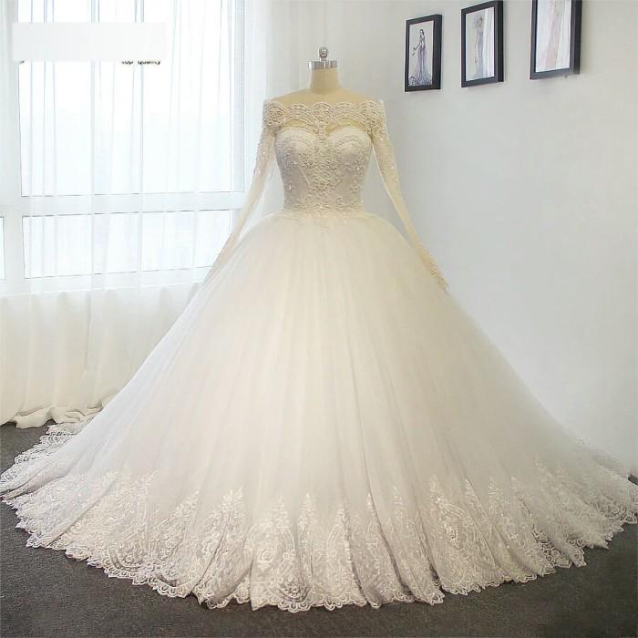 Jual Wedding Gown Glamour Baju Pengantin Muslim Gaun Pengantin