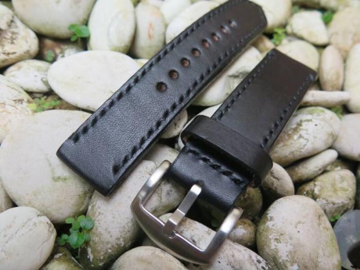 harga Tali jam tangan custom kulit asli venom black leather strap Tokopedia.com