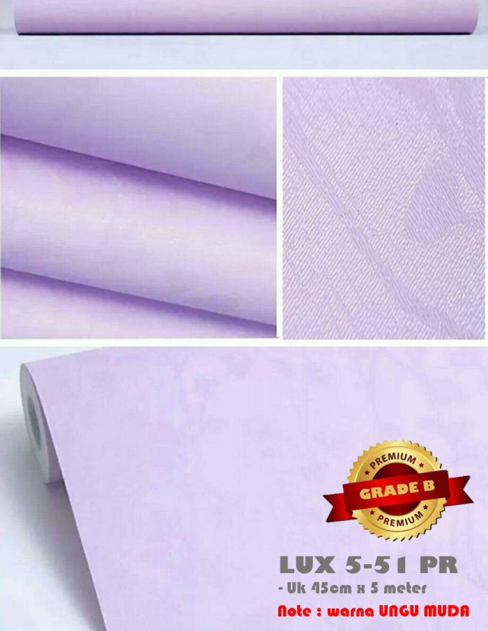Wallpaper Stiker Dinding Lux 5 41pr Grade B Warna Ungu Grosir Sedia Wall Sticker Stiker Dinding