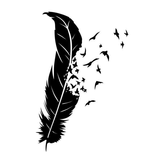 Foto Produk Lolitattoo Temporary Tattoo Flying Feather dari Lolitattoo Shop