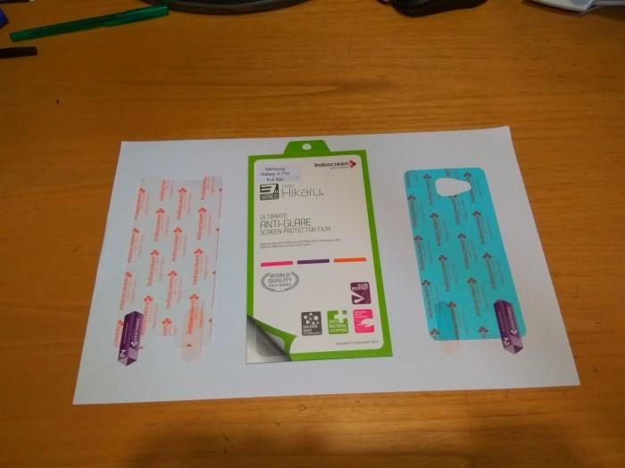 Samsung a7 2016 indoscreen premium screen protector anti gores 2 sisi