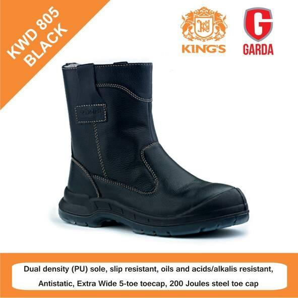Jual SEPATU SAFETY SHOES KINGS KWD 805 BLACK - Sepatu Garda  cdd968ffc2