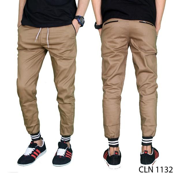 harga Celana panjang jogger pria casual stretch krem cln 1132 Tokopedia.com