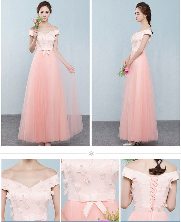 Dress Pesta Warna Peach