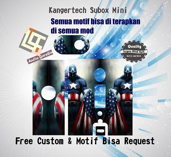 harga Garskin kangertech subox mini motif america capt2, motif bisa request Tokopedia.com