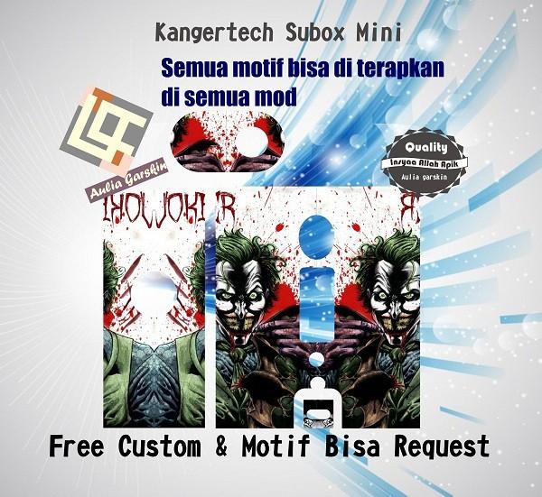 harga Garskin kangertech subox mini motif joker, motif bisa request Tokopedia.com