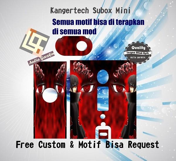 harga Garskin kangertech subox mini motif hitachi, motif bisa request Tokopedia.com