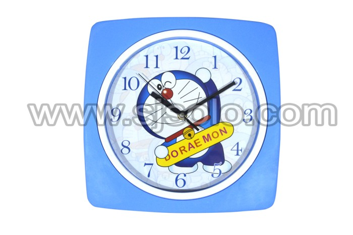 harga Clock jam dinding rumah kotak karakter frozen doraemon hellokitty Tokopedia.com