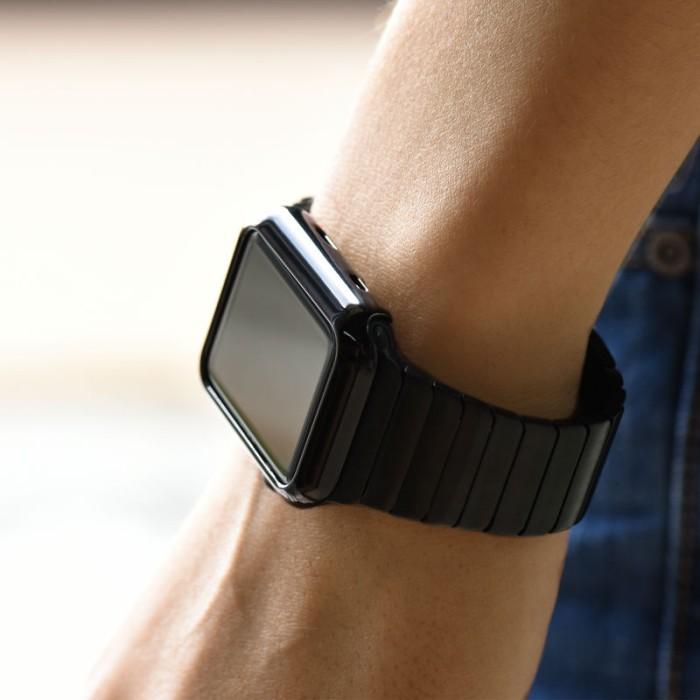 Wakaka Electroplating Hard PC Case Apple Watch 42mm Series 2 Hitam .
