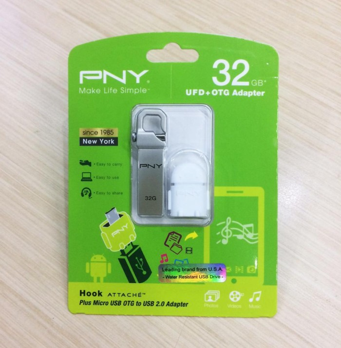 harga Flashdisk pny 32gb hook attache plus otg ke android original Tokopedia.com
