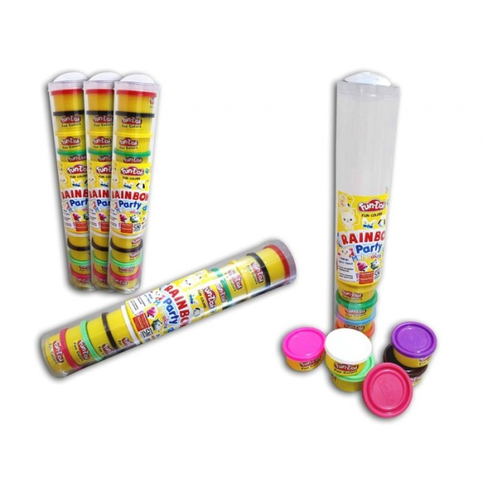 Promo Terbatas Mainan Fun-Doh Rainbow Multi Colour 12 pcs