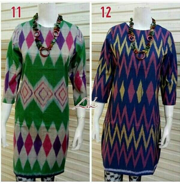 Jual Fashion Mode Long Dress Batik Tenun Rang rang spesial Terbaru ... 2582d32a95