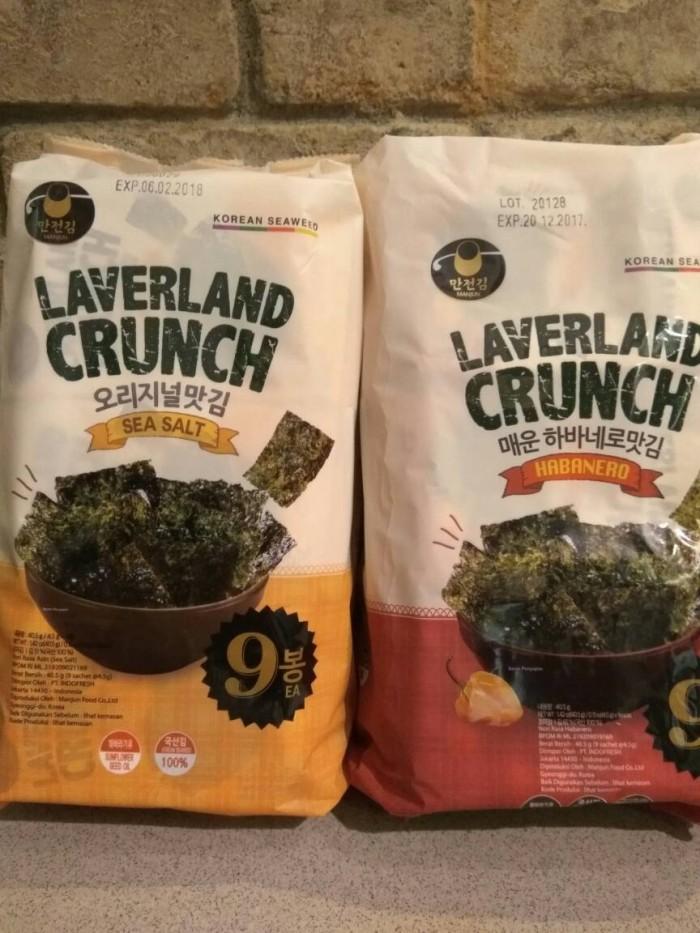 Laverland crunch sea salt & habanero seaweed 9x45gr