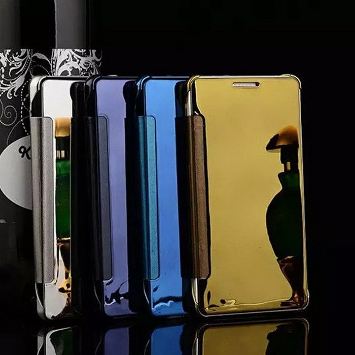 Samsung A7 2017 Flip Mirror Cover S View Transparan AutoLock Casing Hp