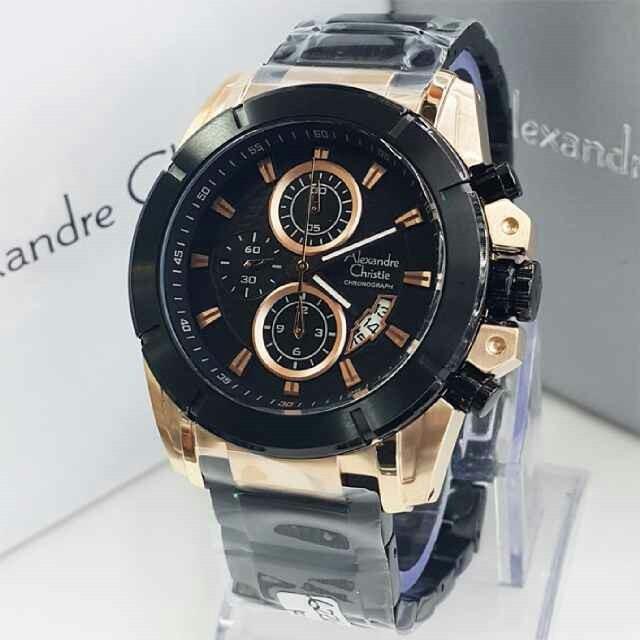 Spesifikasi: Jam Tangan Alexandre Christie AC 6226 MCBBRBA ( Black Ros
